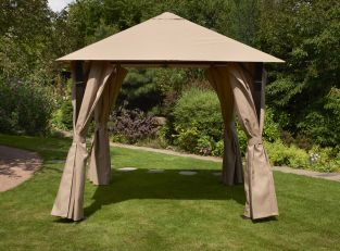 Heavy Duty Venice Gazebo in Mocha 2.5x2.5m