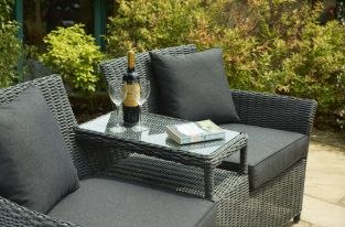 Radford Duo Armchair Set in Charcoal Grey