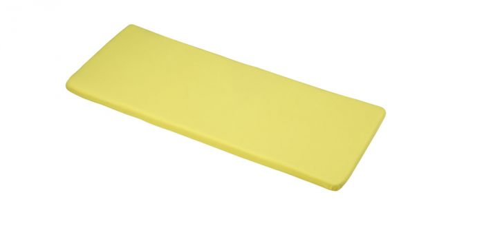 Two-Seater Bench Cushion in Elfin Yellow 116cm