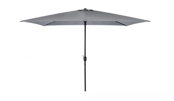 Crank & Tilt Parasol in Grey 2.5m