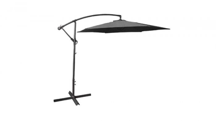 Cantilever Parasol in Grey 3m