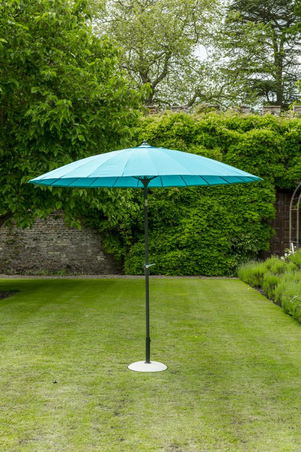 Norfolk Leisure 2.7m Geisha Parasol in Aqua