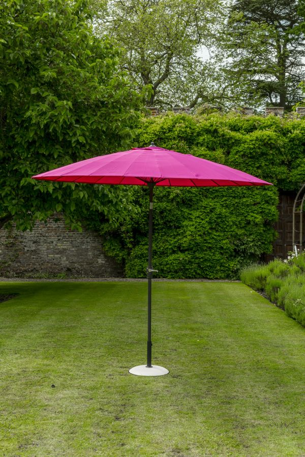 Norfolk Leisure 2.7m Geisha Parasol in Fuschia