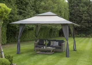 XL Pergola Pop Up Gazebo in Grey 4x4m