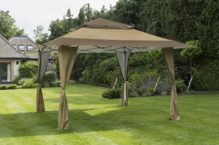 XL Pergola Pop Up Gazebo in Taupe 4x4m