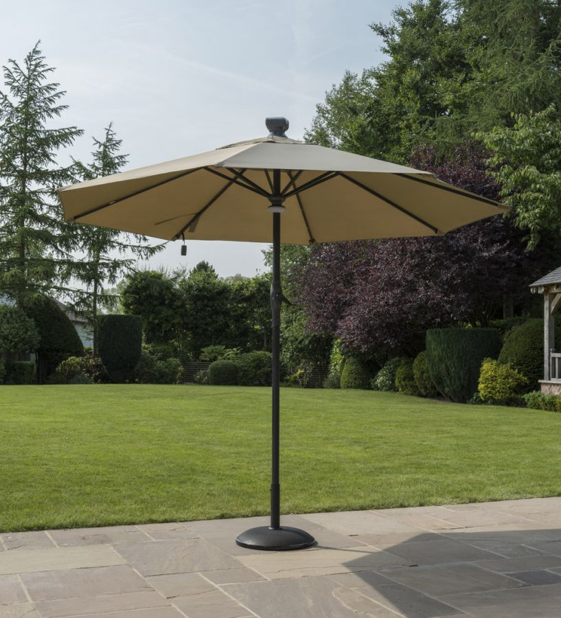 Norfolk Leisure 3m Solar Automatic Taupe Umbrella