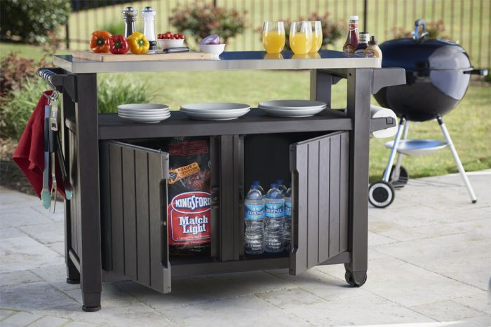 Norfolk Leisure Unity BBQ Stoarge and Service Table
