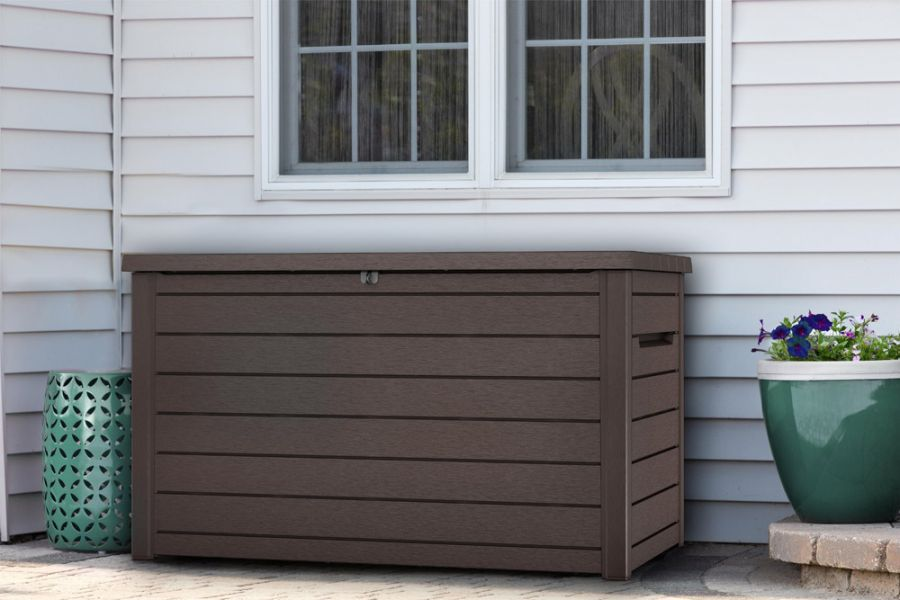 Norfolk Leisure XXL Deck Box in Wooden Effect Resin 870L