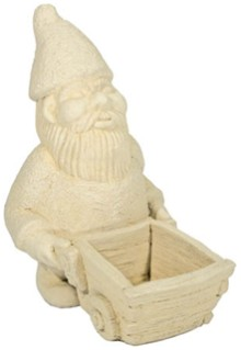 Gnome & Cart Stone Figurine