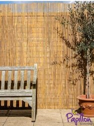 Bamboo Slat Natural Fencing Screening 4.0m x 2.0m (13ft 1in x 6ft 7in) - By Papillon™