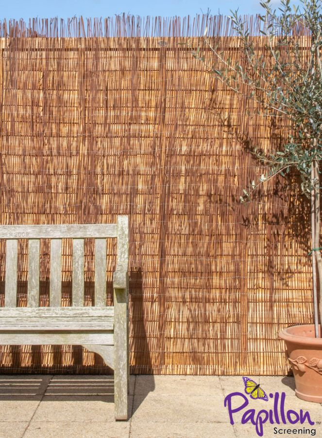 Natural Fern Fencing Screening 4.0m x 1.5m (13ft 1in x 5ft) - By Papillon™