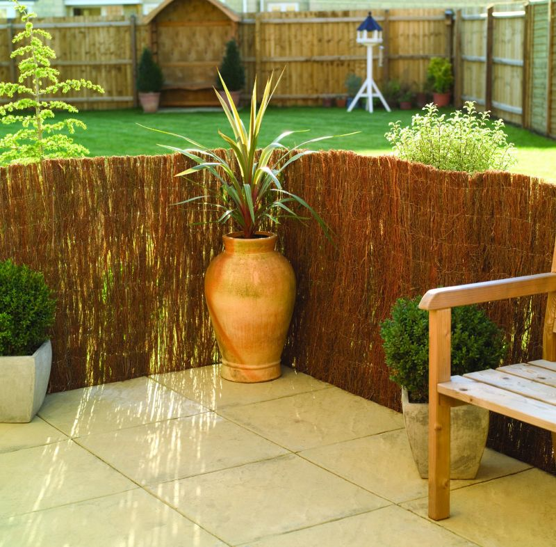 Brushwood Thatch Natural Fencing Screening Rolls (Standard) 4.0m x 1.8m (13ft 1in x 6ft) - By Papillon™