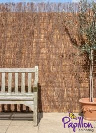 Brushwood Thatch Natural Fencing Screening Rolls (Standard) 4.0m x 1.0m (13ft 1in x 3ft 3in) - By Papillon™