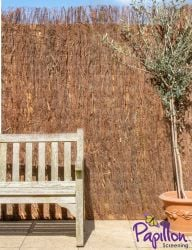Brushwood Thatch Natural Fencing Screening Rolls (Thick) 4.0m x 1.8m (13ft 1in x 6ft) - By Papillon™