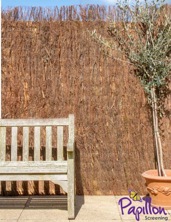 Brushwood Thatch Natural Fencing Screening Rolls (Thick) 4.0m x 2.0m (13ft 1in x 6ft 7in) - By Papillon™