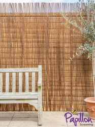 Willow Natural Fencing Screening Rolls 4.0m x 1.5m (13ft 1in x 5ft) - By Papillon™
