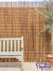 Willow Natural Fencing Screening Rolls 4.0m x 2.0m (13ft 1in x 6ft 7in) - By Papillon™