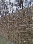 Traditional Hazel and Willow Hurdle fencing