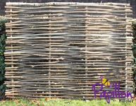 4ft 6in (1.37m) Birchwood Capped Hazel Hurdle Fencing Panel by Papillon™