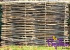 Birchwood Capped Hazel Hurdle Fencing Panel 1.82m x 1.2m (6ft x 4ft) - By Papillon™