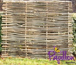 Birchwood Capped Hazel Hurdle Fencing Panel 1.82m x 1.5m (6ft x 5ft) - By Papillon™