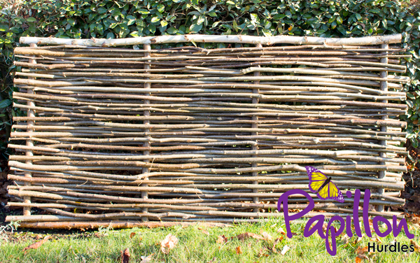 Birchwood Capped Hazel Hurdle Fencing Panel 1.82m x 0.9m (6ft x 3ft) - By Papillon™