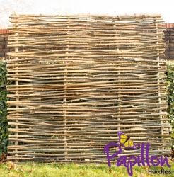 Birchwood Capped Hazel Hurdle Fencing Panel 1.82m x 1.82m (6ft x 6ft) - By Papillon™