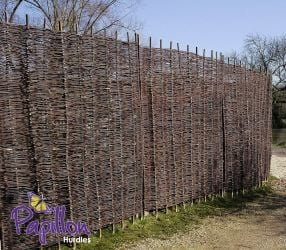Willow Hurdles Fencing Panel 1.82m x 1.82m (6ft x 6ft) - By Papillon™