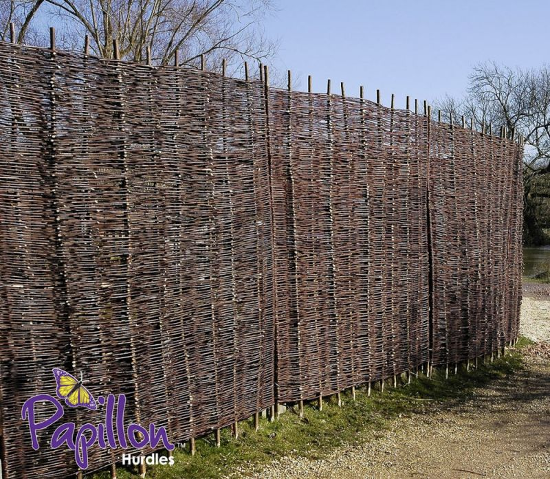 Willow Hurdles Fencing Panel 1.82m x 1.5m (6ft x 5ft) - By Papillon™