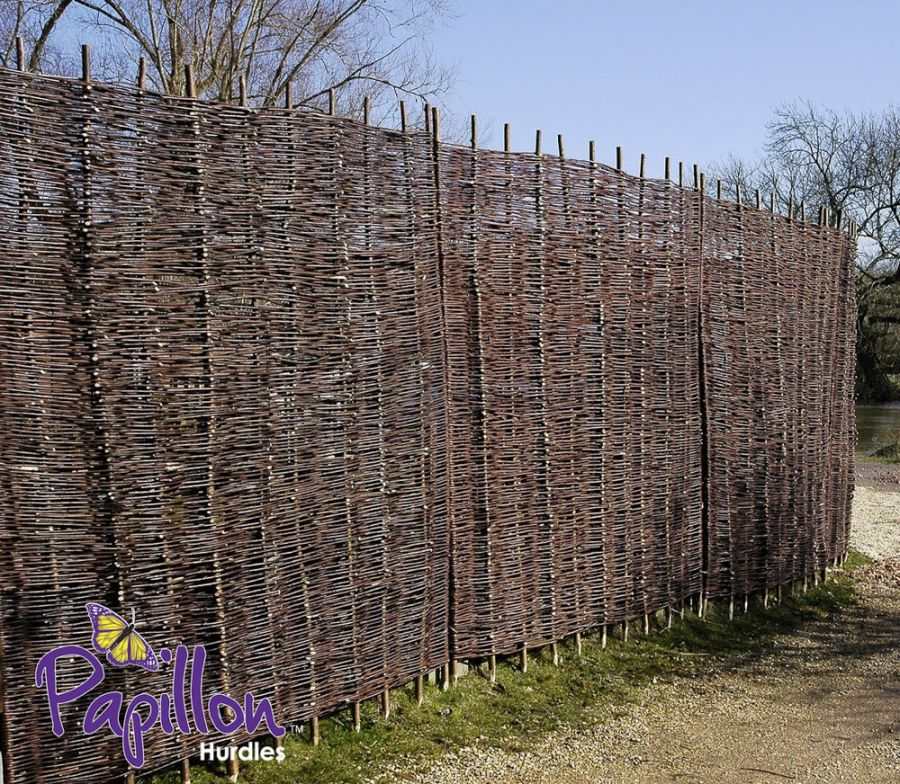 Willow Hurdles Fencing Panel 1.82m x 1.2m (6ft x 4ft) - By Papillon™