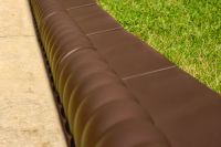 Victorian Brown Lawn Edging Tiles - Pack of 10 (H6cm x L2.3m)