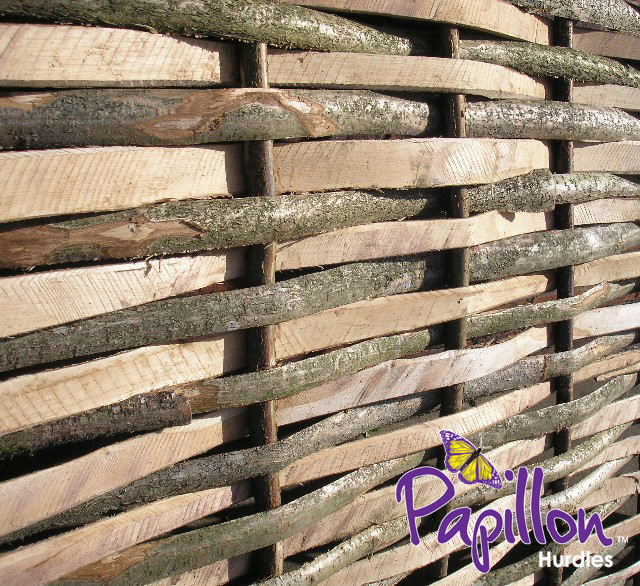 Contemporary Split Hazel Hurdles Medium Fencing Panel 1.82m x 1.37m (6ft x 4ft 6in) - By Papillon™