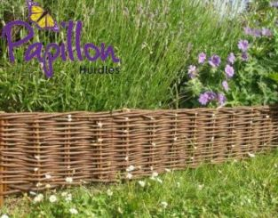 40m Woven Willow Hurdle Edging - H20cm - by Papillon™