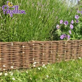 10m Woven Willow Hurdle Edging - H20cm - by Papillon™