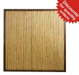 Bamboo Fence Panel with Frame - 6ft x 6ft