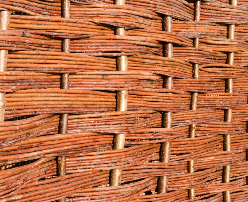 Willow Bunch Weave Hurdles Fencing Panel 1.82m x 1.82m (6ft x 6ft) - By Papillon™