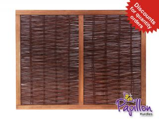 Heavy Framed Willow Hurdles Fencing Panels 1.82m x 1.37m (6ft x 4ft 6in) - By Papillon™