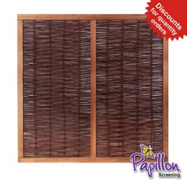 Heavy Framed Willow Hurdles Fencing Panels 1.82m x 1.82m (6ft x 6ft) - By Papillon™