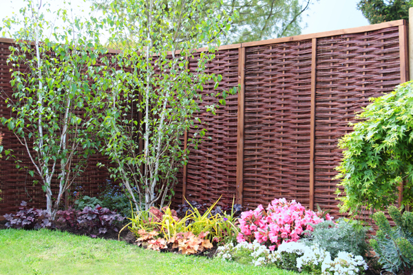 Framed Willow Hurdles Fencing Panels 1.82m x 0.9m (6ft x 3ft) - By Papillon™