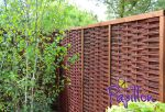 Framed Willow Hurdles Fencing Panels 1.82m x 1.82m (6ft x 6ft) - By Papillon™