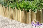 1.2m Decorative White Bamboo Edging Roll with Stakes - H36cm - by Papillon™