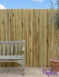 Thick White Bamboo Fencing Screening Roll 1.9m x 1.8m (6ft 2in x 5ft 11in) - By Papillon™