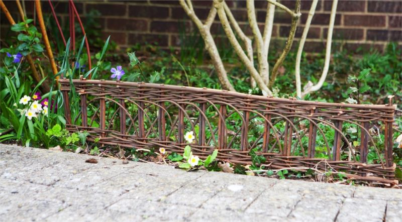 1m Willow Border Edging - Set of 2 - H35cm