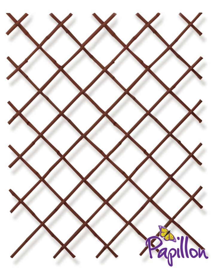 Black Bamboo Expandable Fencing Screening Trellis 2.0m x 2.0m (6ft 7in x 6ft 7in) - By Papillon™