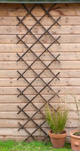 black bamboo expandable fencing screening trellis 2 0m x 2 0m 6ft