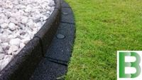 1m Flexi-Border Garden Edging in Black - H8cm - by EcoBlok