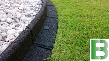 5m Flexi-Border Garden Edging (5x 1m packs) in Black - H8cm -  by EcoBlok