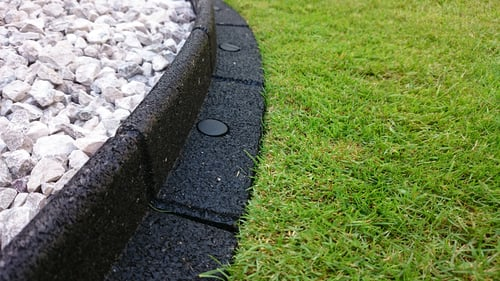 25m Flexi-Border Garden Edging (25x 1m packs) in Black - H8cm - by EcoBlok
