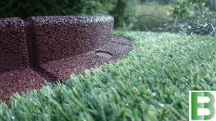 1m Flexi-Border Garden Edging in Brown - H8cm - by EcoBlok™
