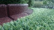 1m Flexi-Border Garden Edging in Brown - H8cm - by EcoBlok